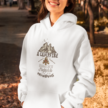 A Campfire is Basically a Nightclub in the Mountains Unisex Hoodie