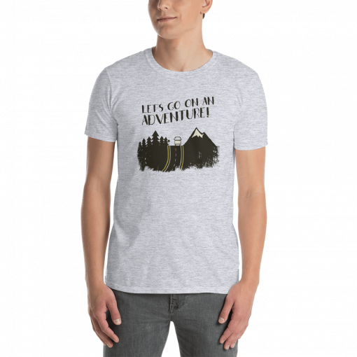 Lets Go on an Adventure mockup Front Mens Sport Grey