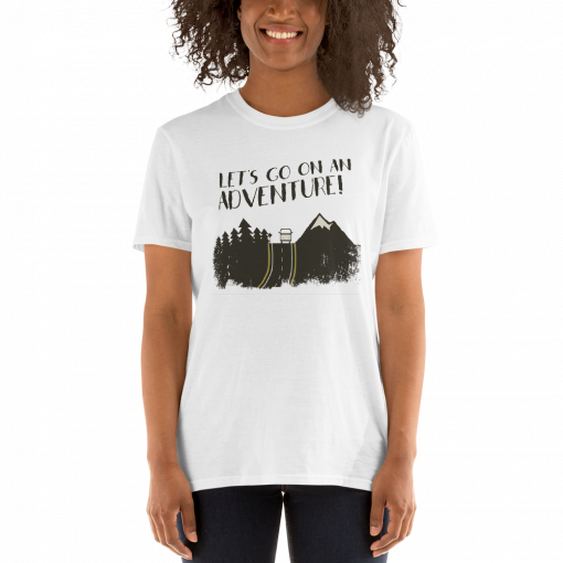 Lets Go on an Adventure mockup Front Womens 2 White