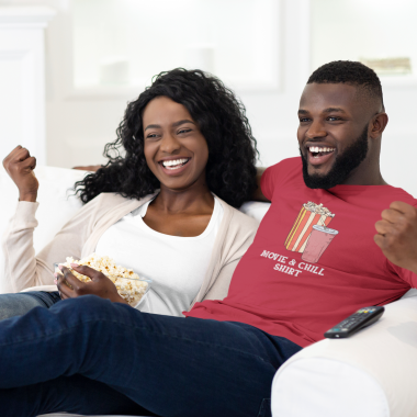Movie and Chill shirt couple
