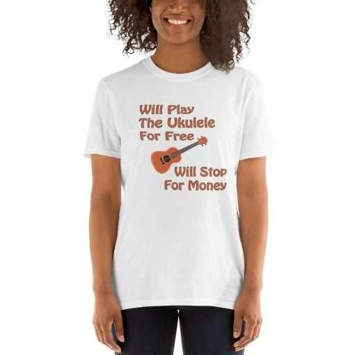 Will Play the Ukulele mockup Front Womens 2 White