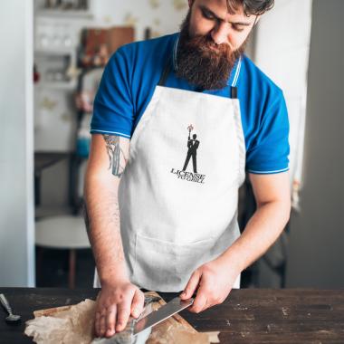 apron mockup featuring a man slicing a fish 34703 r el2