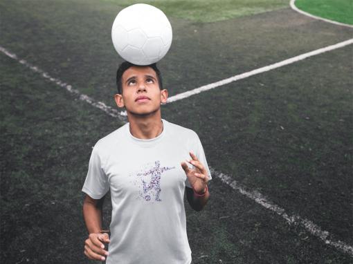 custom soccer jerseys teen with ball in head a16485
