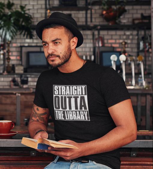 heather t shirt mockup of a man reading at a pub 34986 r el2