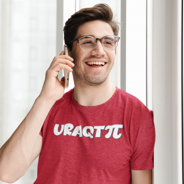 heathered t shirt mockup featuring a happy man making a phone call 44338 r el2