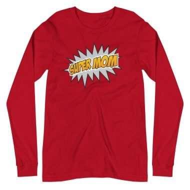 unisex long sleeve tee red front 607c4cda43bb8